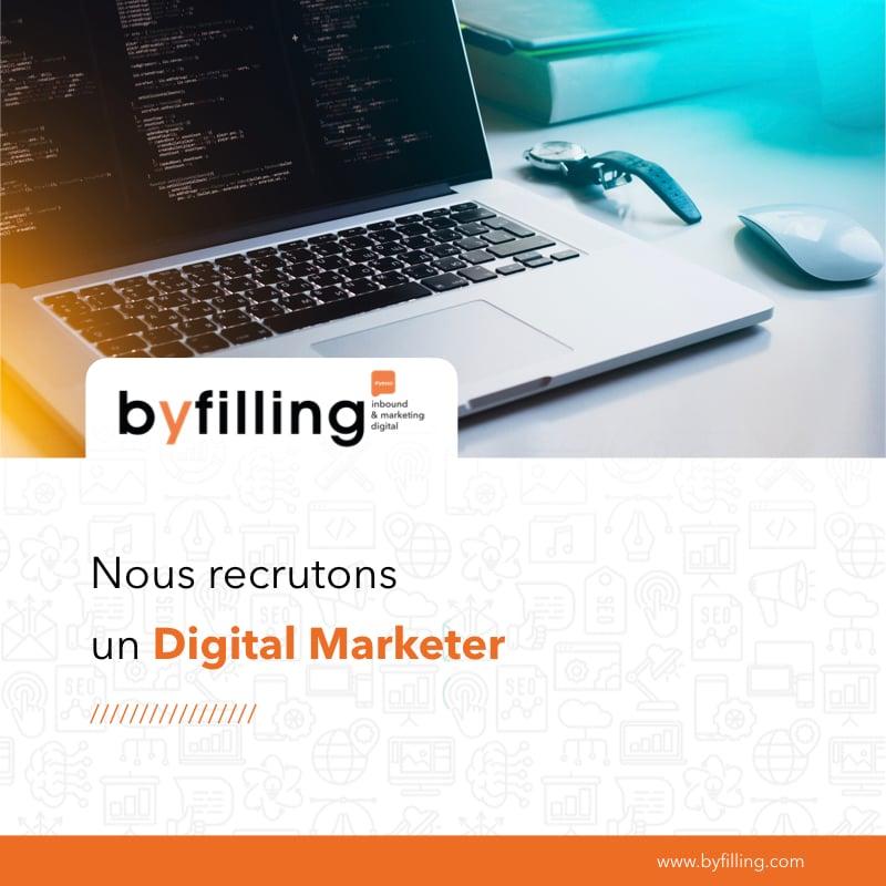digital marketer recrutement