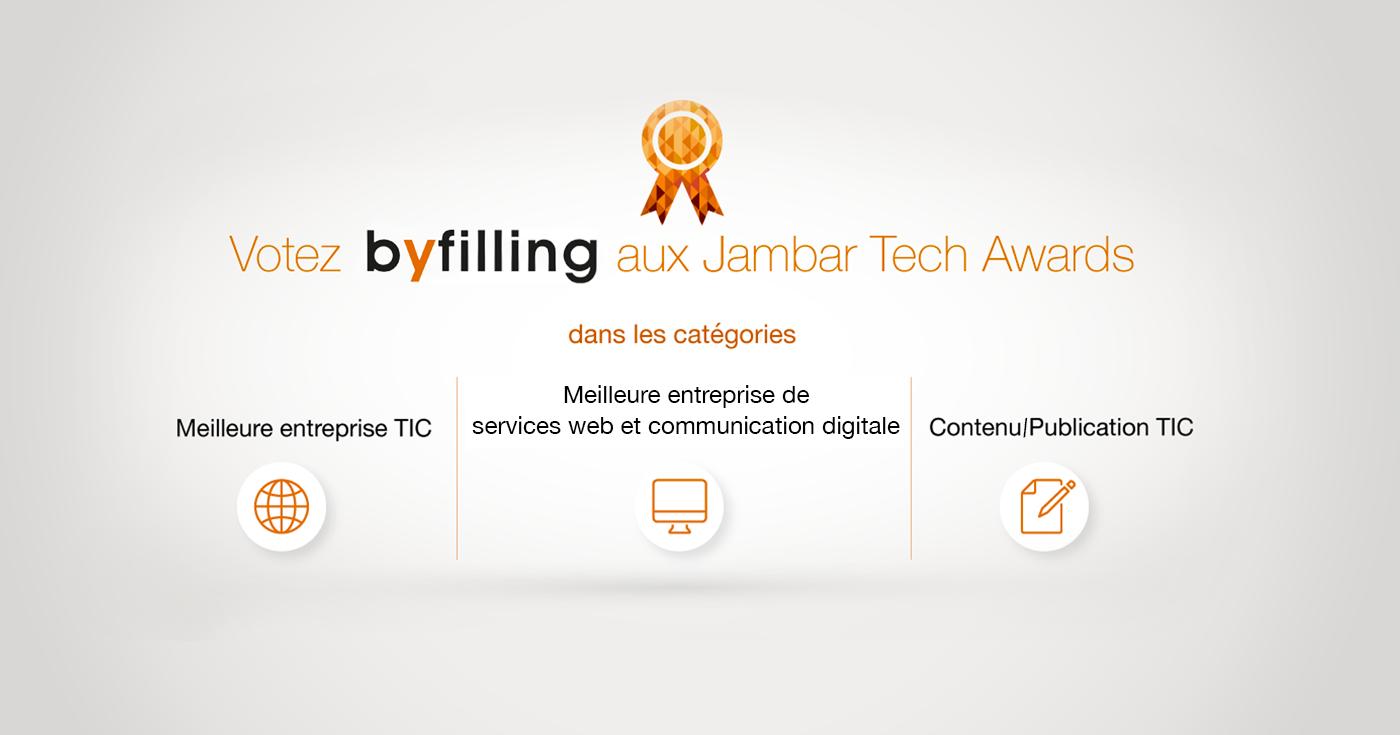L'agence By Filling Nominée pour les Jambar Tech Awards